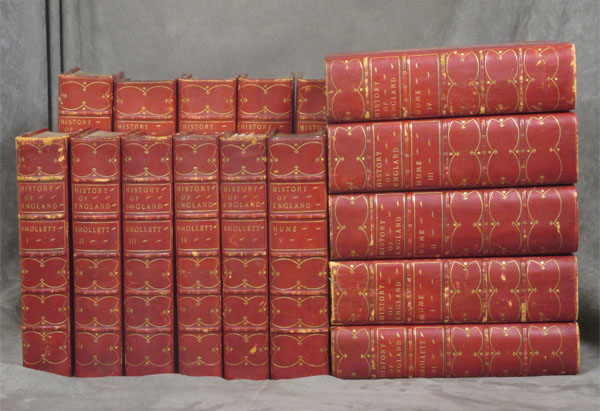 The History of England, complete in 16 volumes: From The Invasion of Julius Caesar to The Revolution in 1688, Hume, 10 volumes --PLUS-- From The Revolution in 1688 to the Death of George II, Smollett, 6 volumes. David Hume, T. Smollett, Tobias.