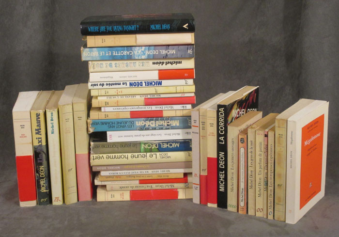 Lot of 33 books by Michel Deon, many inscribed. Michel Deon, Michel Déon.