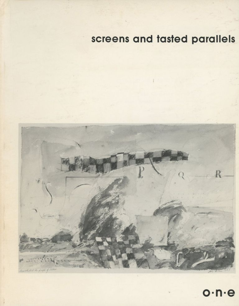Screens and Tasted Parallels, Issue 1. Terrel Hale, Jed Rasula Bradford Morrow, Michael Gizzi, Armand Schwerner, Charles Bernstein, Jerome Rothenberg, Lyn Hejinian, Anselm Hollo, Bernadette Mayer, Clayton Eshleman, Bruce Andrews, Ron Silliman, Rae Armantrout, Jackson Mac Low.