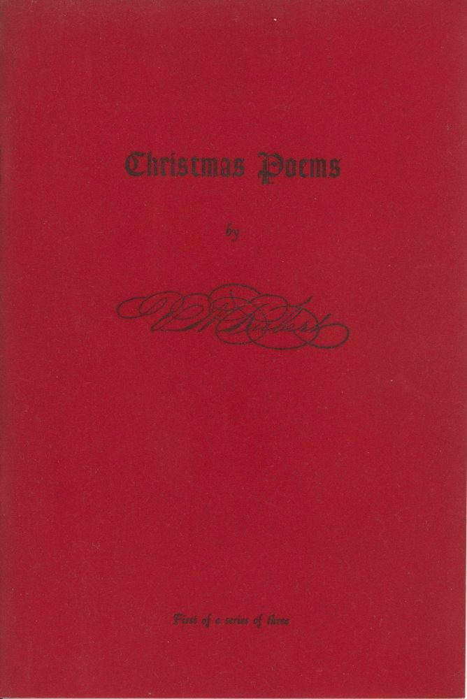 Assorted Christmas Poems, First of a Series of Three. Victor M. Rubert.