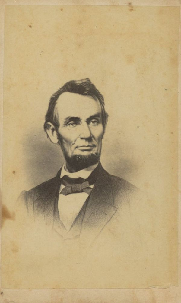 View Image 1 Of For Carte De Visite Abraham Lincoln Ca 1860