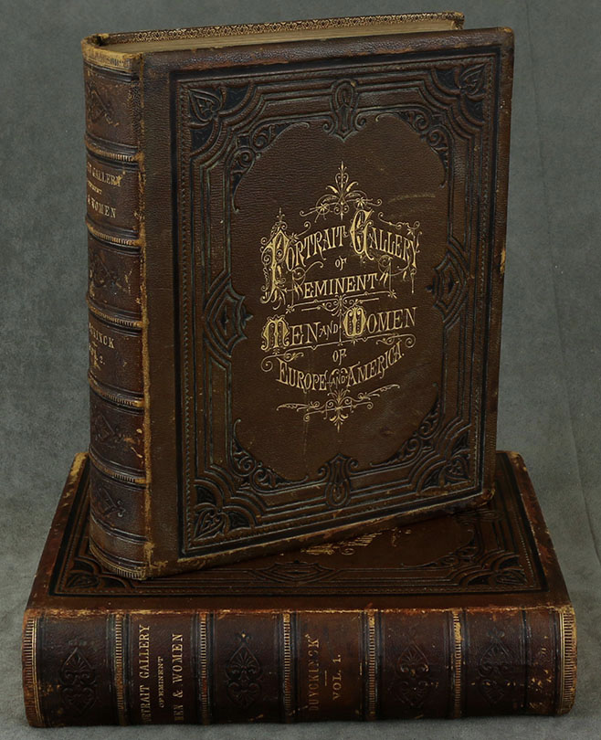 Portrait Gallery of Eminent Men and Women of Europe and America. Embracing History, Statesmanship, Naval and Military Life, Philosophy, The Drama, Science, Literature and Art. With Biographies (Two volume set). Evert A. Duyckinck.