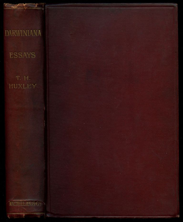 Darwiniana: Essays (Collected Essays, Volume II). Thomas H. Huxley.