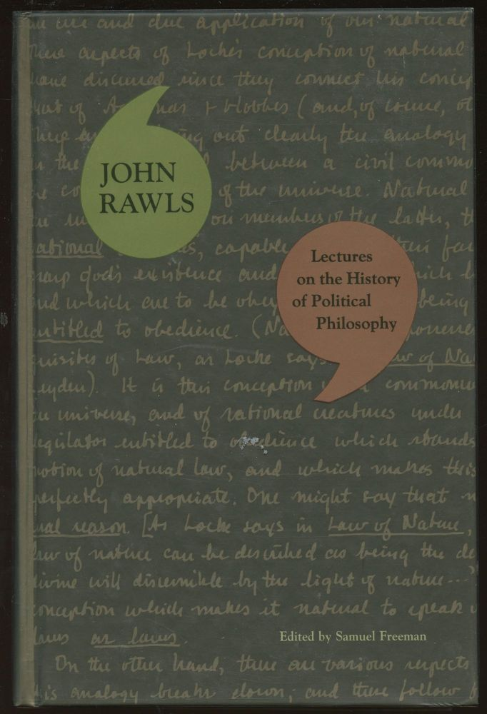 Lectures on the History of Political Philosophy. John Rawls, Samuel Freeman.