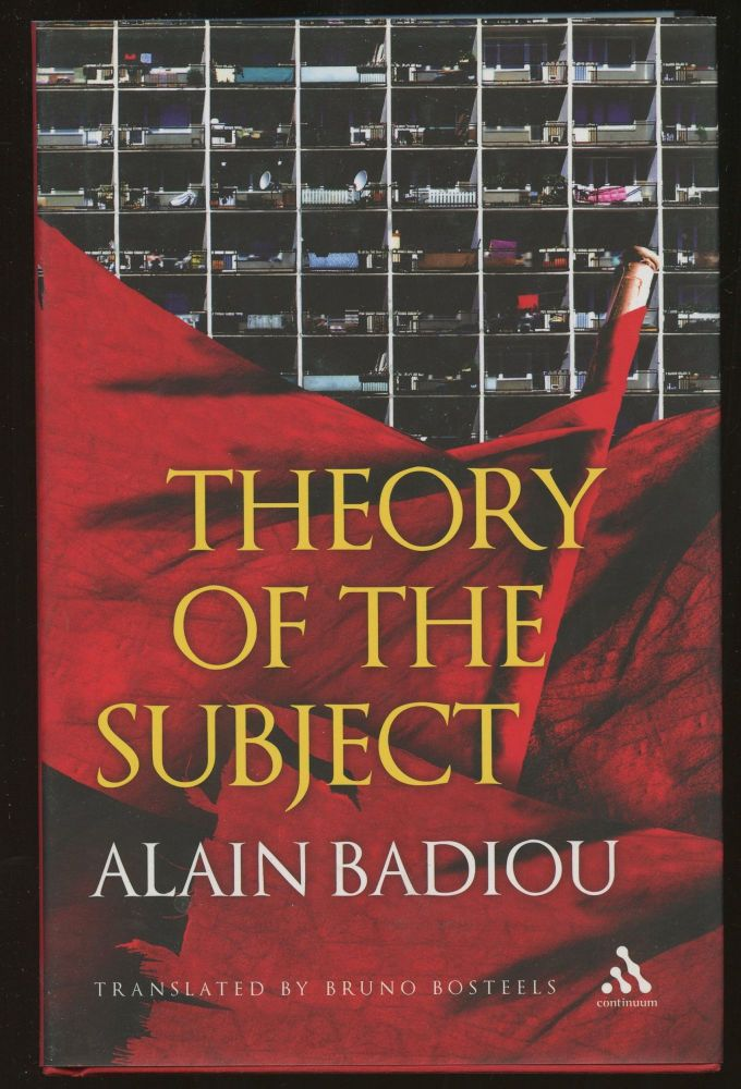 Theory of the Subject. Alain Badiou, Bruno Bosteels.
