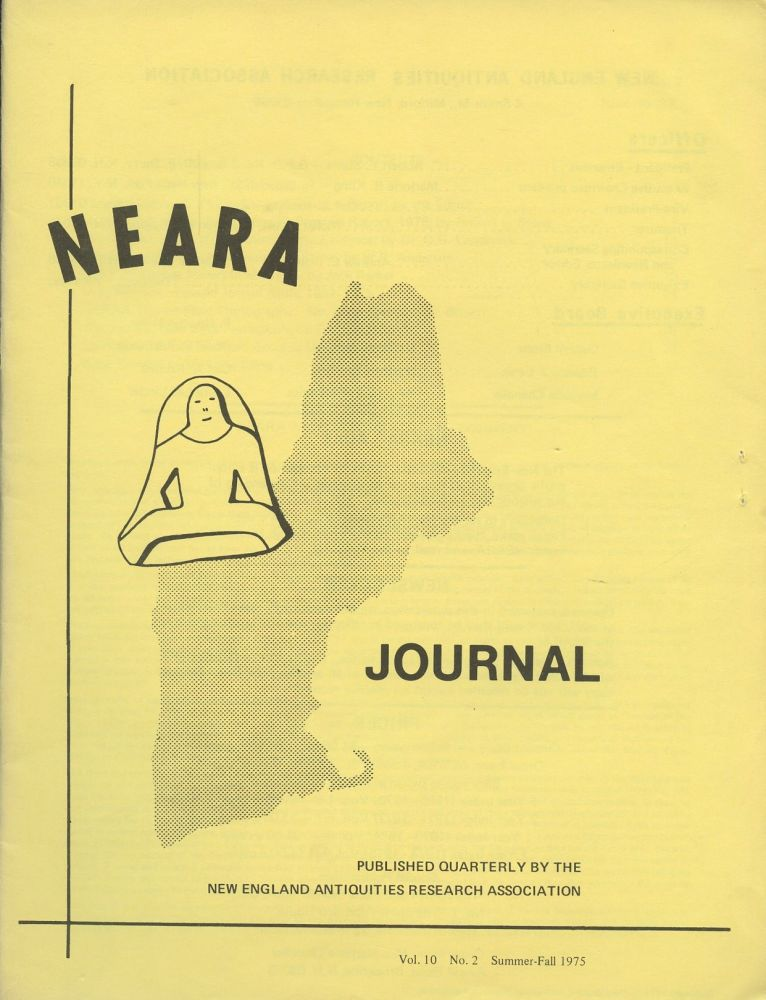 NEARA Newsletter: Vol. 10, No. 2, Summer-Fall 1975--Issue No. 37. New England Antiquities Research Association.