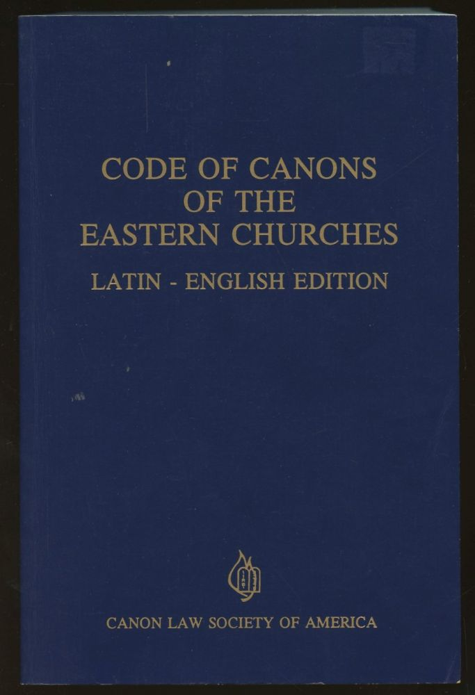 Code of Canons of the Eastern Churches: Latin-English Edition. n/a.