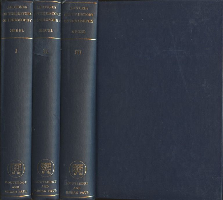 Hegel's Lectures on the History of Philosophy [Three volume complete set]. G. W. F. Hegel, E S. Haldane.