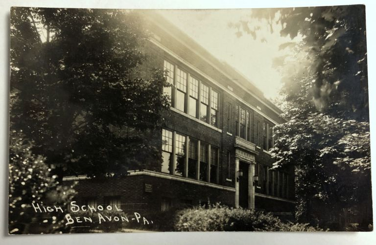 Ben Avon, Pennsylvania (suburb of Pittsburgh): Real Photo Postcard / RPPC ca. 1910 of High School building