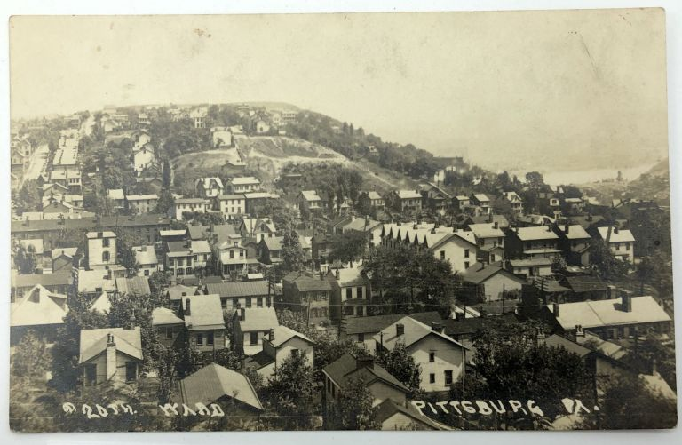 Banksville, PA (suburb of Pittsburgh): Real Photo Postcard / RPPC ca. 1910 of hillside community