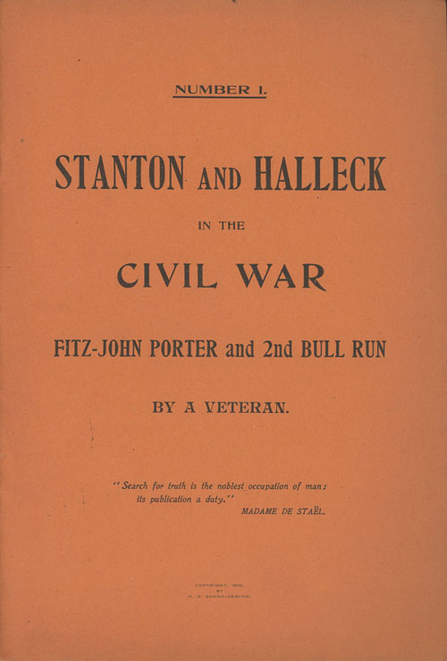 Stanton and Halleck in the Civil War, Fitz-John and 2nd...