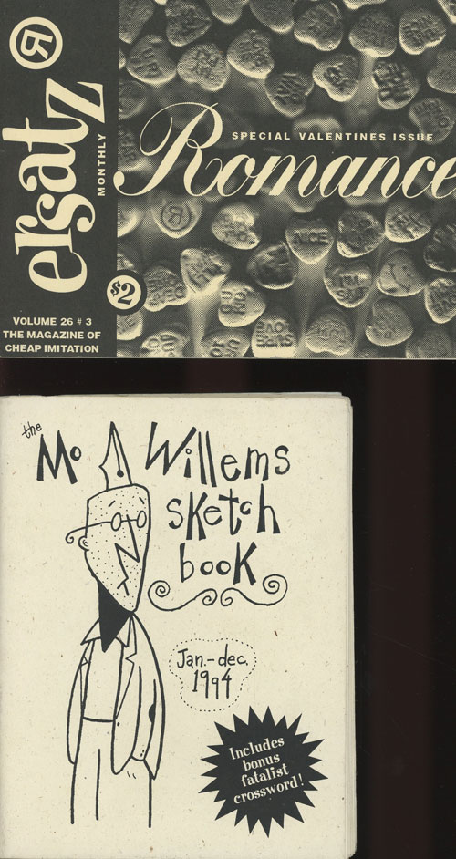 Two volumes from Ersatz Publications - The Mo Willems Sketch...