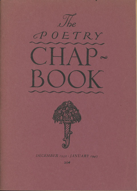 The Poetry Chap-Book, December 1942-January 1943. George Abbe, Stanton A. Coblentz John Ritchey.