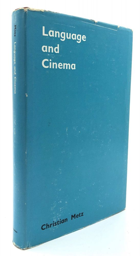 Language and Cinema (1974) - inscribed. Christian Metz, trans. by Donna Jean Umiker-Sebeok.