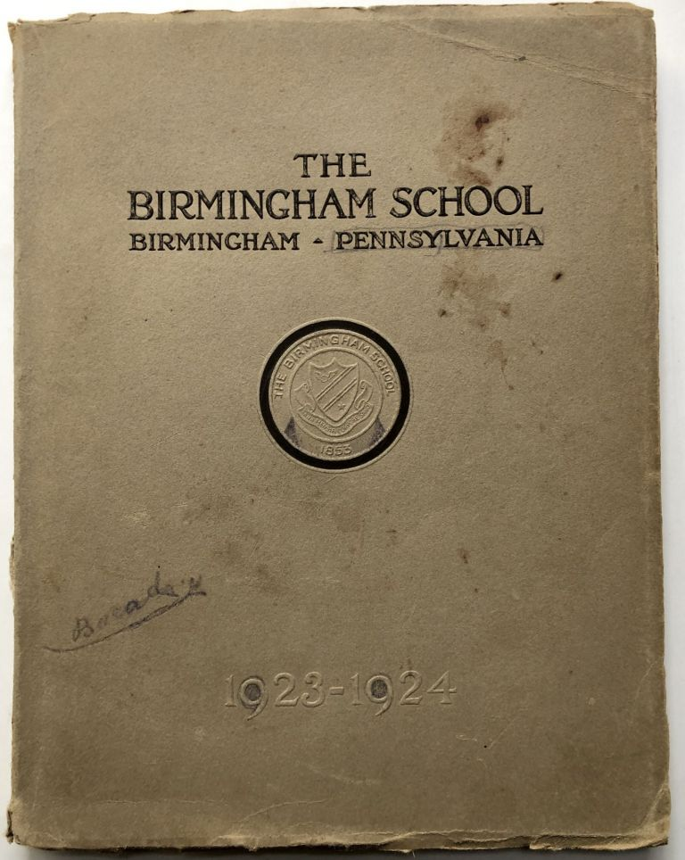 The Birmingham School, Birmingham PA, 1923-1924 catalog. PA - Huntingdon County.