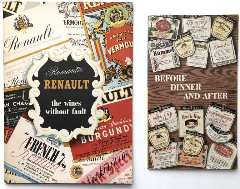 Romantic Renault, the Wines without Fault. Cocktail Guide, L. N. Renault Co.