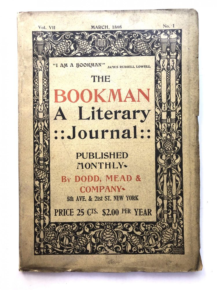 The Bookman, a Literary Journal, March 1898. Stephen Crane, W. Robertson Nicoll, Myrtle Reed.
