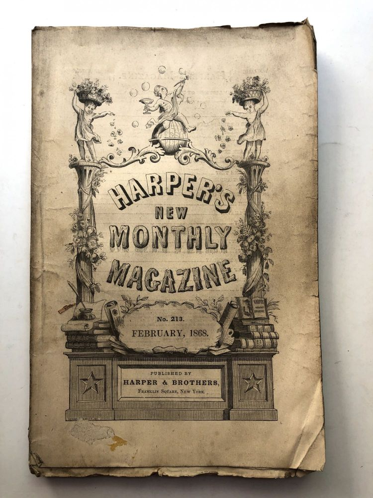 Harper's New Monthly Magazine, February, 1868. Andrew Lang Thomas Hardy, George du Maurier.
