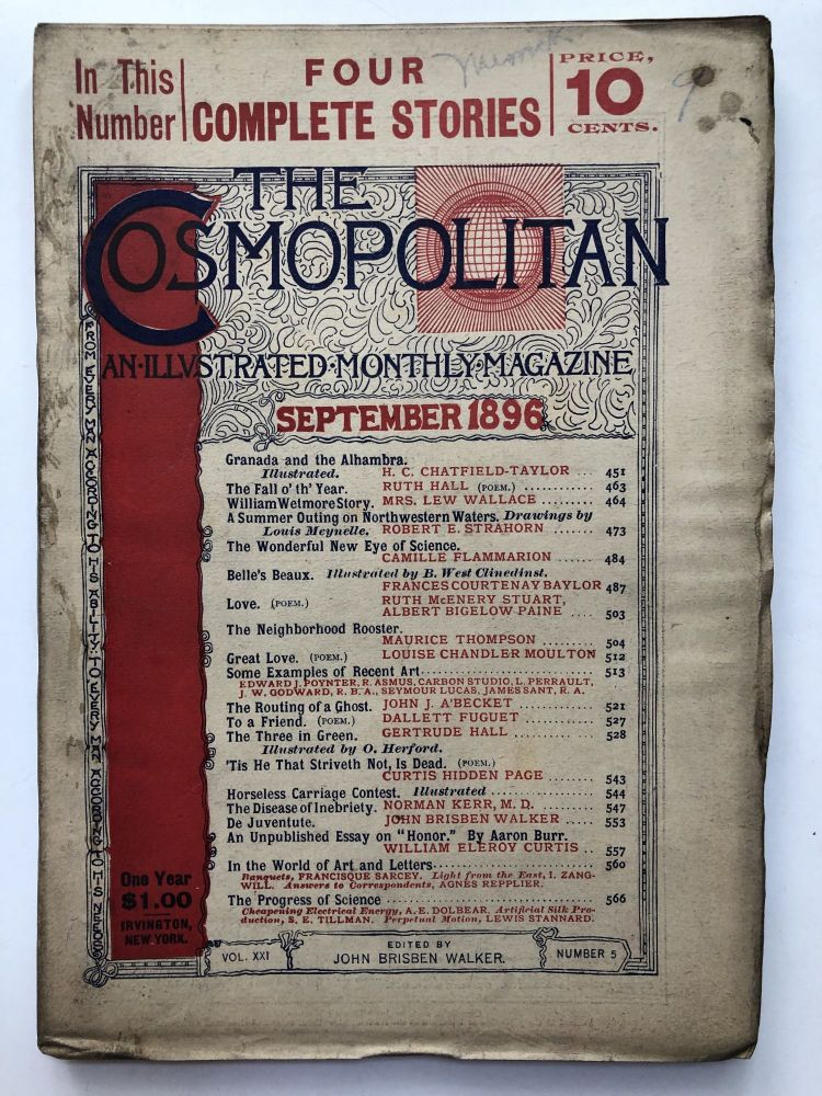 The Cosmopolitan, an Illustrated Monthly Magazine, September, 1896. Ruth Hall Camille Flammarion.