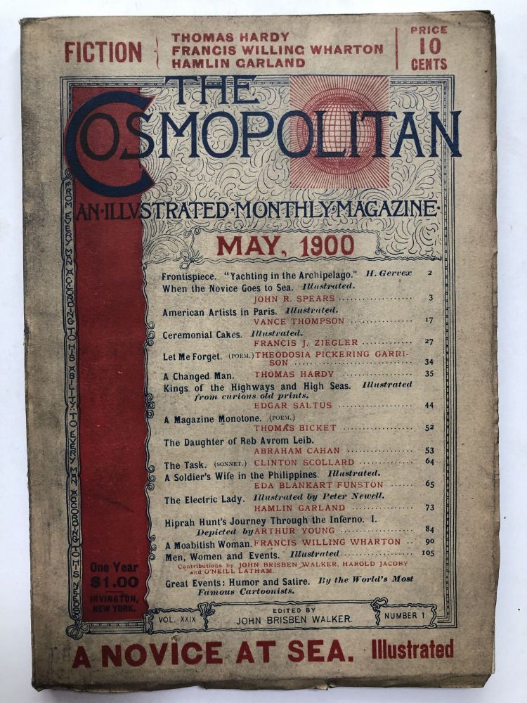 The Cosmopolitan, an Illustrated Monthly Magazine, May 1900. Abraham Cahan Thomas Hardy, Hamlin Garland.