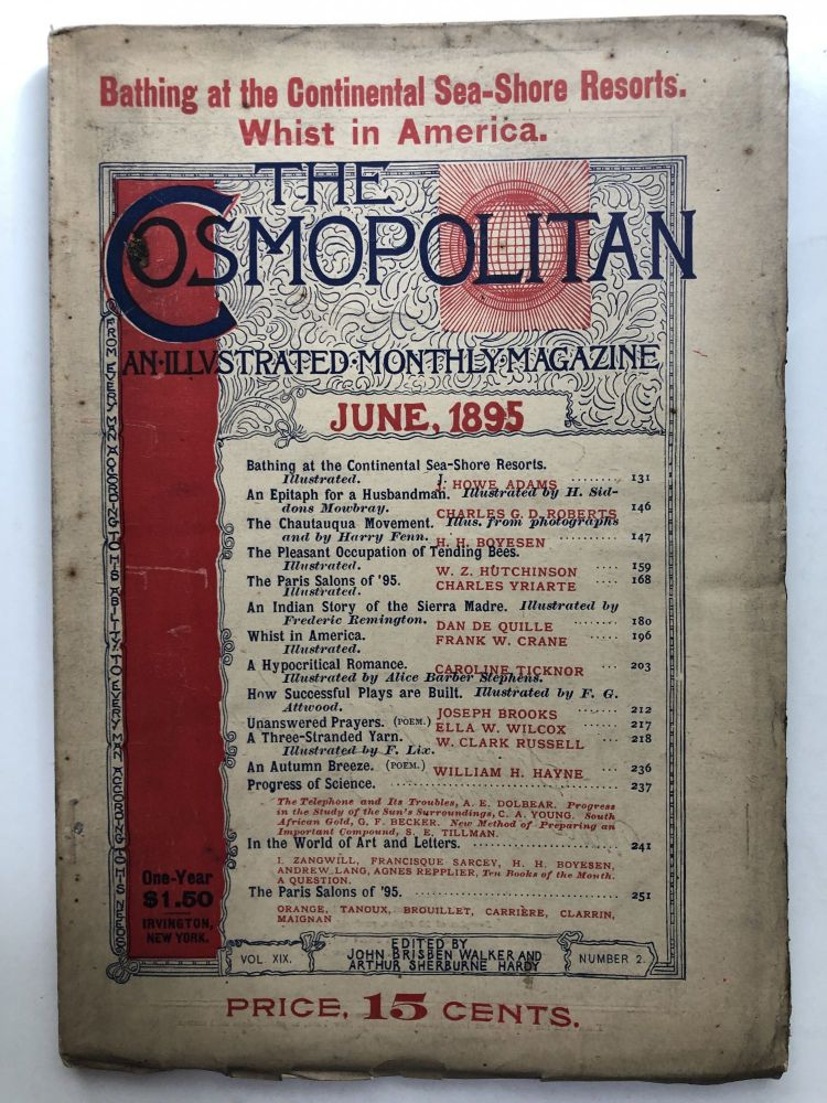 The Cosmopolitan, an Illustrated Monthly Magazine, June 1895. W. Clark Russell Caroline Ticknor.