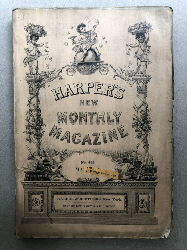 Harper's New Monthly Magazine, No. 492, May 1891. Thomas Hardy A. T. Quiller-Couch, Walter Besant.