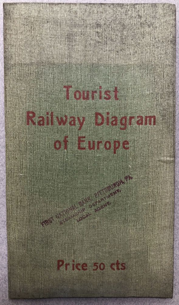 Tourist Railway Diagram of Europe, showing the Faires - Times - Distances between the Principal Cities. Al. Peters.