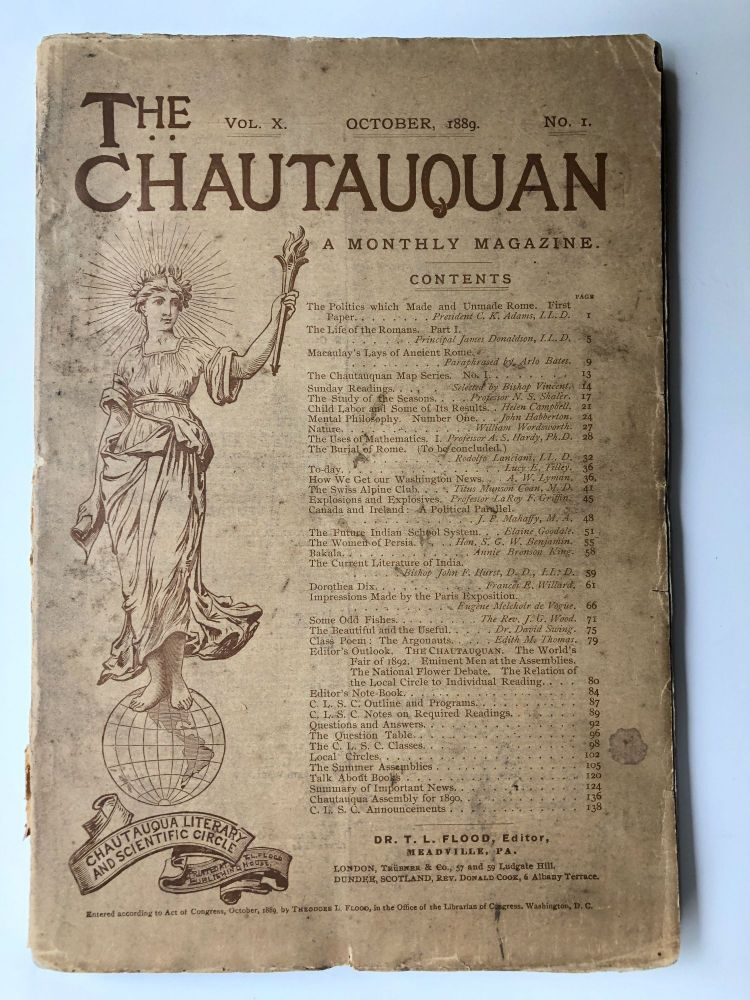The Chautauquan, October 1889. Theodore L. Flood, William Wordsworth, ed. Helen Campbell.