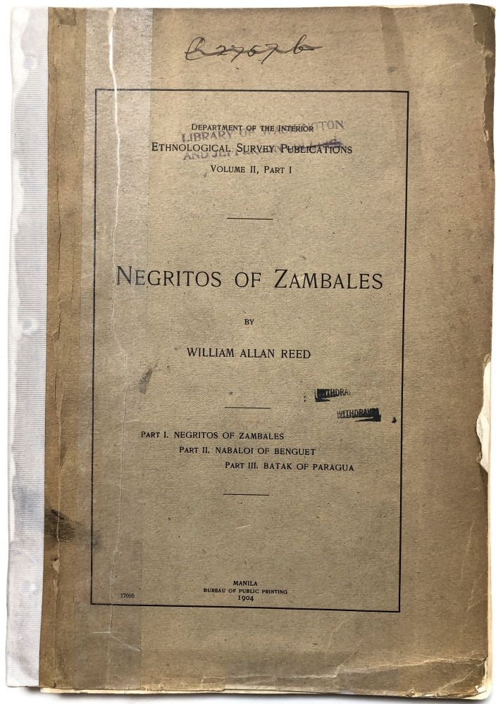 Negritos of Zambales. William Allan Reed.