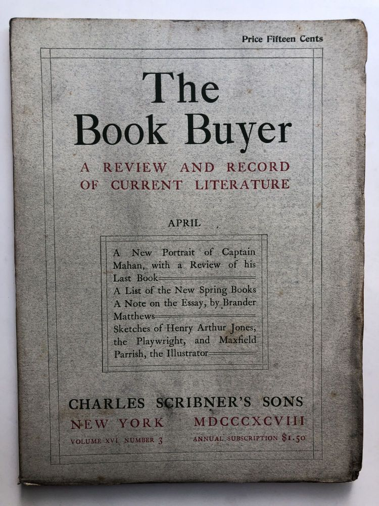 The Book Buyer, A Review and Record of Current Literature, April 1898. Maurice Kingsley Brander Matthews.