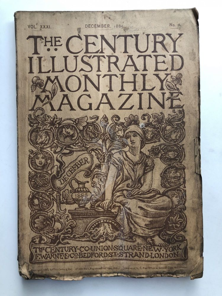 The Century Illustrated Monthly Magazine, December 1885. Mark Twain Henry James.