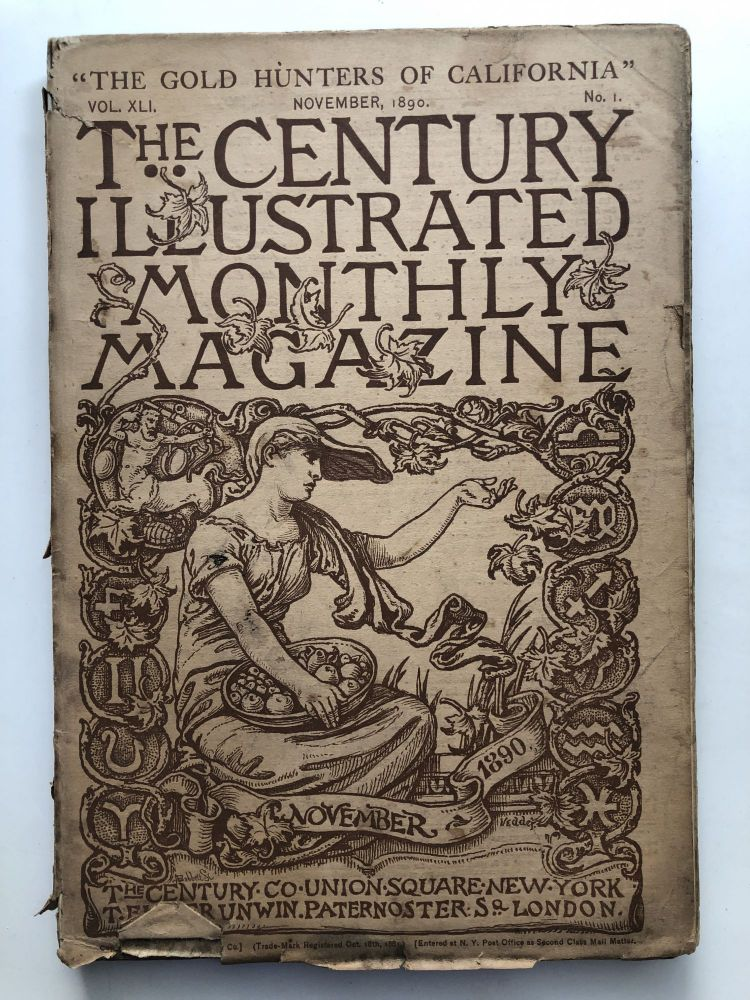 The Century Illustrated Monthly Magazine, November 1890. Edgar Fawcett James Whitcomb Riley, W. Woodville Rockhill.
