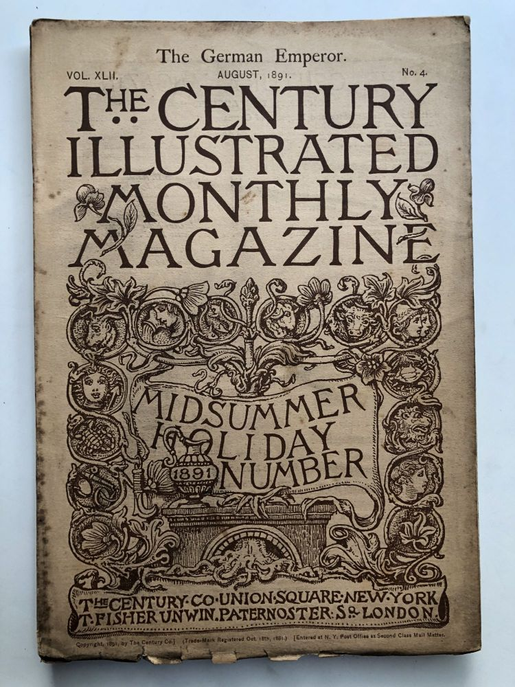The Century Illustrated Monthly Magazine, August 1891. George Wharton Edwards Frank R. Stockton.