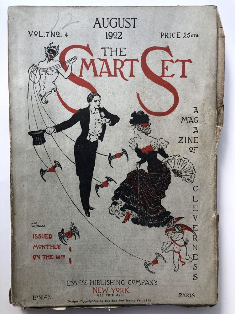 The Smart Set, a Magazine of Cleverness, August 1902. Anatole France Gertrude Atherton, James Branch Cabell.
