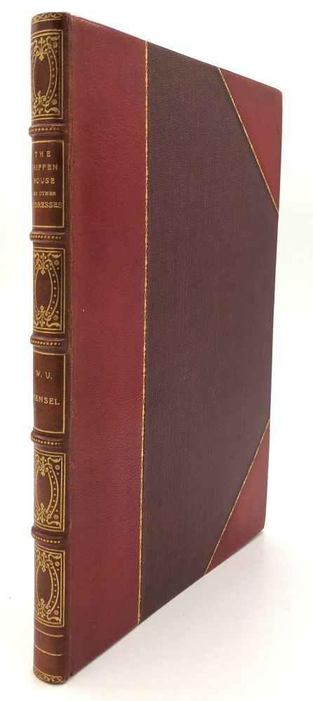 """1916 finely bound volume collecting Hensel's various papers and addresses on Lancaster PA history &c. - The Shippen House (1910); Old Elizabeth, Some Account of """"Baron"""" Stiegel...(1913); An Historic Balcony, An Address Delivered at the Hotel Brunswick (1915); Walter Scott: Poet (1914); Scotland Revisited (1914); Trinity and the Town (no date). PA Lancaster, W. U. Hensel."""