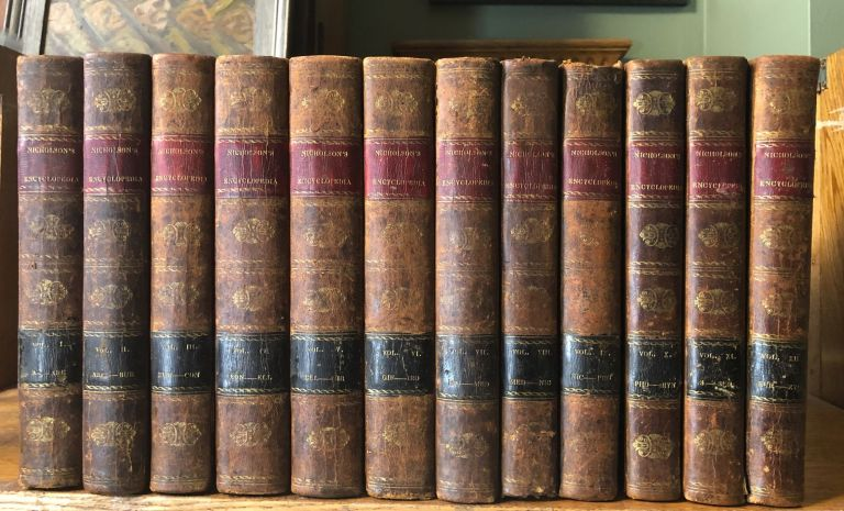 Nicholson's British Encyclopedia or Dictionary of Arts & Sciences, Third American Edition, 12 volumes complete. William Nicholson.