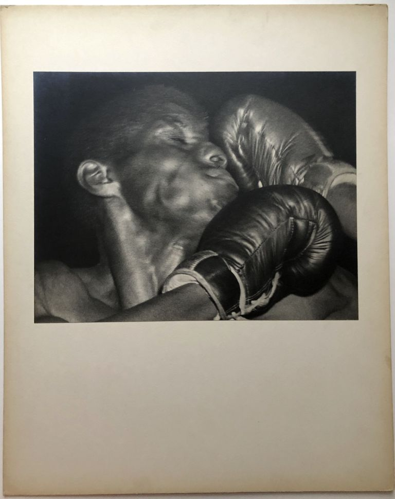 """Original 13.5 x 10"""" ca. 1960s gelatin silver print of African American boxer taking one to the face. John L. Alexandrowicz."""