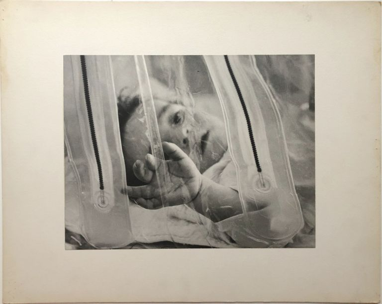 "Original 13.25 x 10.5"" ca. 1960 portrait of infant in ICU -- Pittsburgh. John L. Alexandrowicz."
