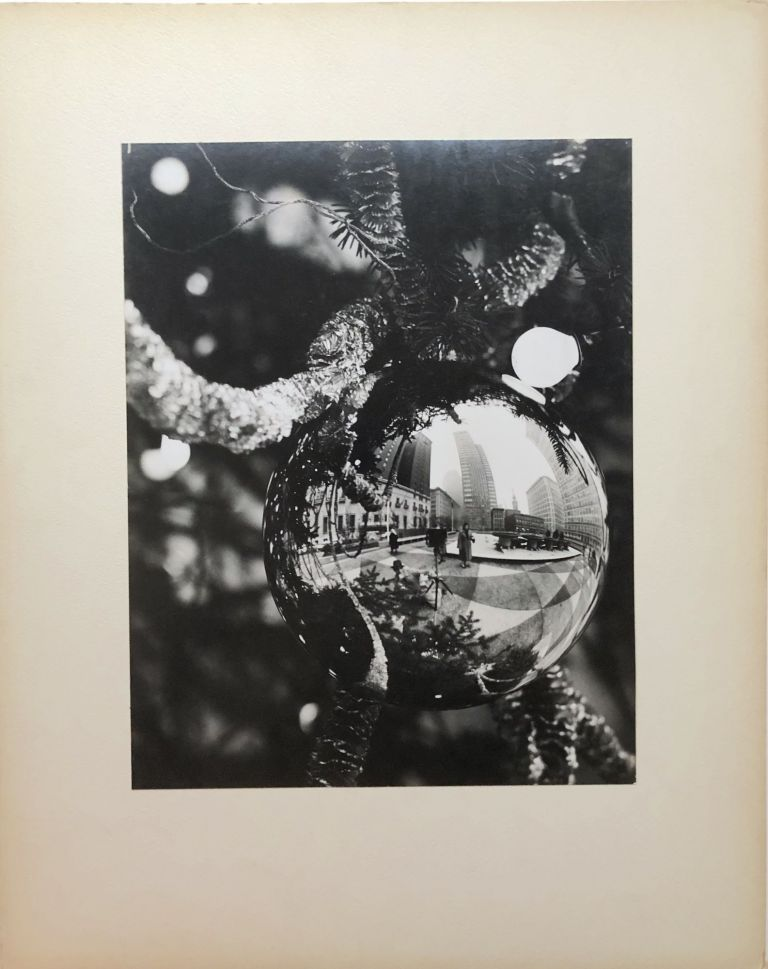 "Original 13.25 x 10.5"" 1956 gelatin silver photo ""Ornaments and Reflections"" downtown Pittsburgh. John L. Alexandrowicz."