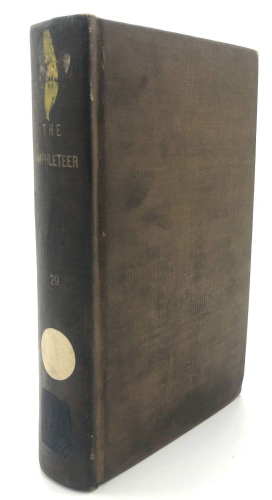 The Pamphleteer, Vol. XXIX, nos. 57 & 58 (LVII, LVIII), 1828. W. E. Channing, Randle Jackson, J. Beames, W. W. Whitmore.