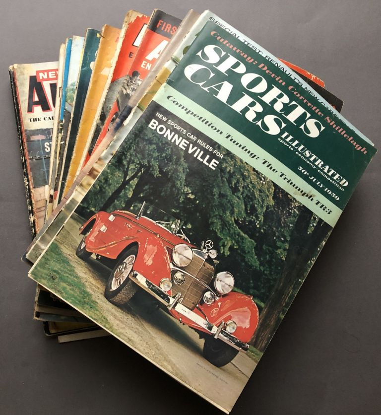 Group of 22 hot-rodding and custom car magazines & catalogs from the 1950s and 1960s. Hot Rodding.
