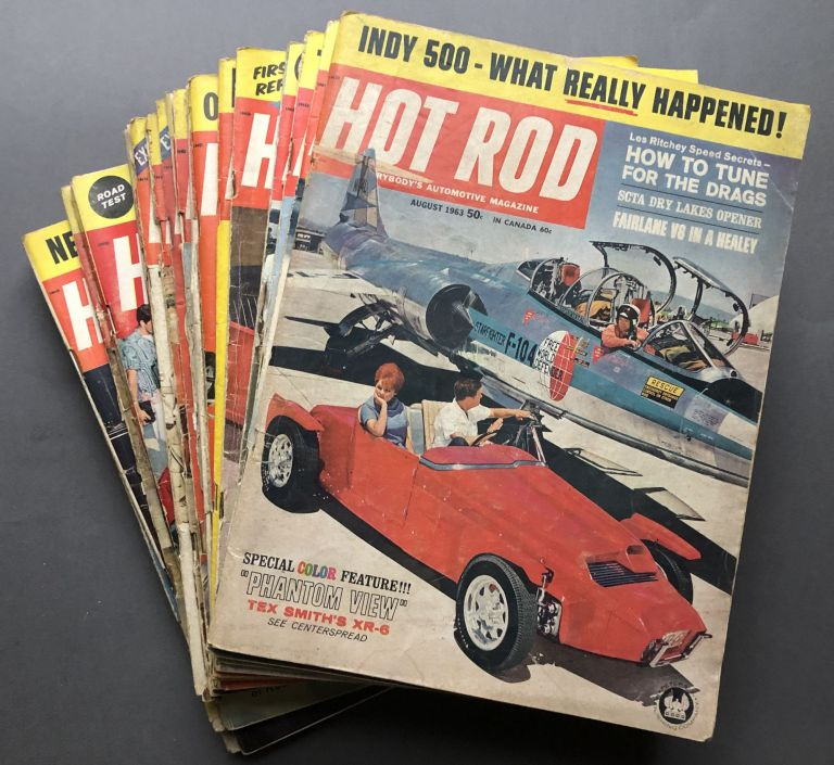Group of 21 HOT ROD magazines from1957-1963. Hot Rodding.