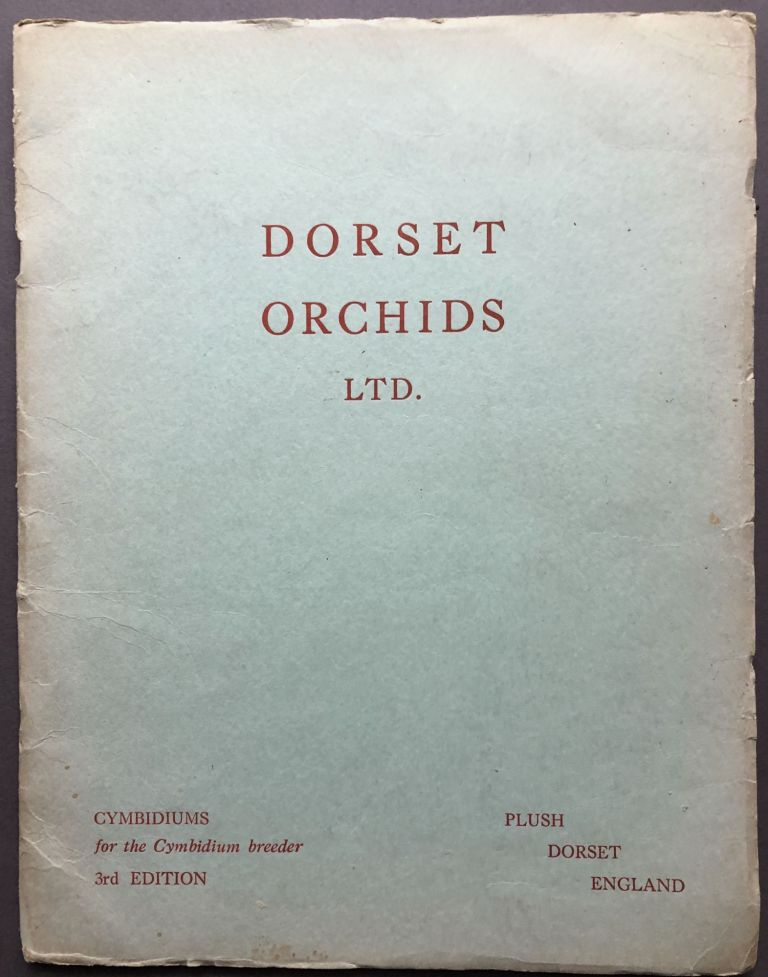 1954 Breeder's Catalogue of Cymbidiums and orchid bulbs. Ltd Dorset Orchids.
