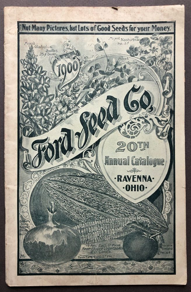 20th Annual Catalogue, 1900: flower and fruit seeds, garden supplies, etc. Ford Seed Co.