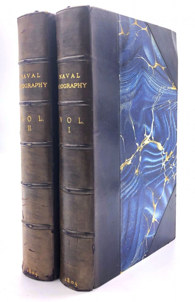 Naval Biography; or, the History and Lives of Distinguished Characters in the British Navy...2 volumes. Edward Harding, attributed to.