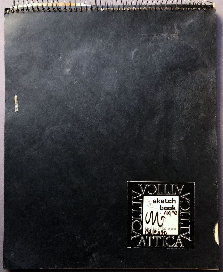Artist sketchbook and poetry notebook, Chicago 1972. M. Graves.
