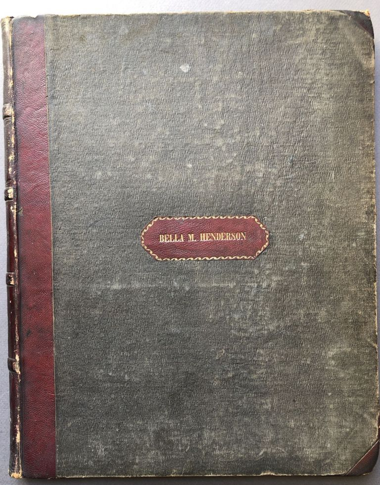 Bound volume of 1850s sheet music including My Old Kentucky Home, Good Night (1853), Oh Boys Carry Me 'Long (1851), Nelly Bly (1850), Melinda May (1850), etc. Stephen Collins Foster.