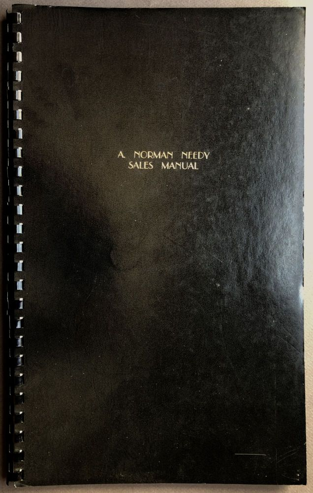 A. Norman Needy Sales Manual [1966 manual for employees at the Gitting photo studios]. A. Norman Needy, Paul Linwood Gittings, Alfred.