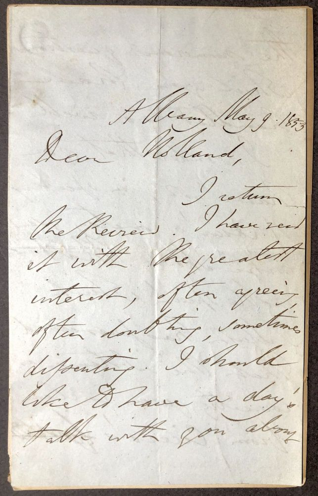 Autograph Letter Signed, 1853, commenting on a review, to Lord Holland. Thomas Babington Macaulay.