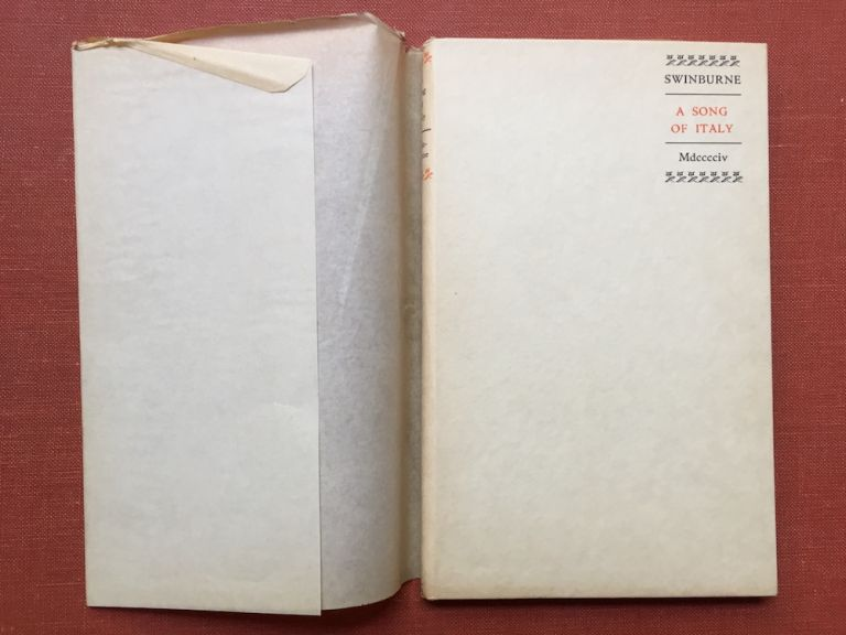 A Song of Italy - one of 100 copies -...